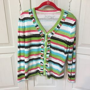 Colorful Striped 2 A Tee Cardigan Sweater